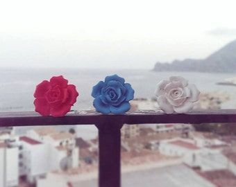 set of Roses (earrings and ring)