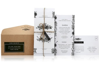 SAMPLE - Ganesh Wedding Invitation - Rural Collection