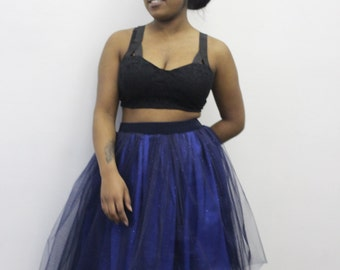Woman's tulle skirt blue