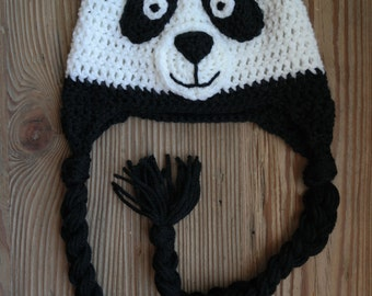 Crochet Panda Baby Hat