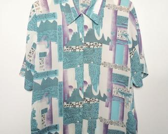 Pattern Short Sleeved Shirt