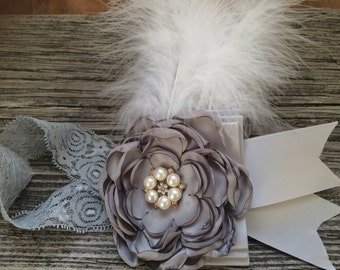 Flower Girl Headband /bridal girl headband