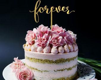 Forever Wedding Cake Topper - Keepsake Cake Topper - Statement Cake Topper R039