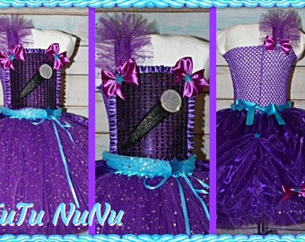Handmade Girls Princess Barbie Popstar Tutu Dress