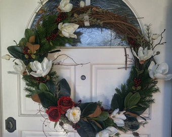 Magnolia winter wreath