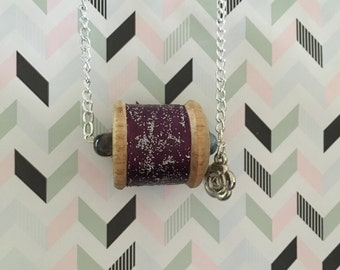 Vintage Cotton Reel Necklace