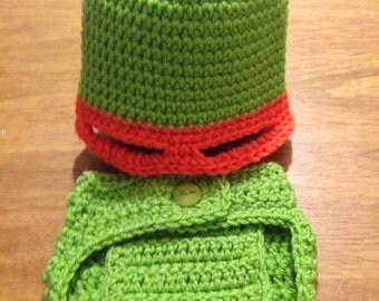 Baby Ninja Turtle inspired photo prop