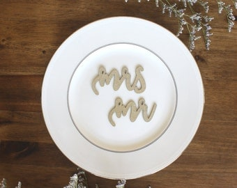 Mrs. and Mr. Place Holders Cards Wedding Engagement Party