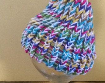 Newborn Baby Knit Hat Rainbow