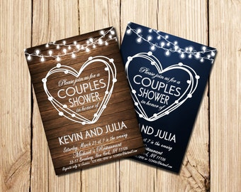 COUPLES SHOWER INVITATION, Printable Couples Shower Invitation, Couples Shower Invitation, Couple's Shower, Couples Shower