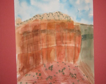 16x20 Watercolor Sedona, Original, matted, included, optional