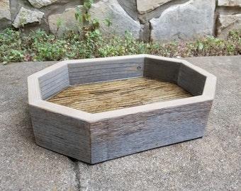 Reclaimed Wood Valet Tray, Mini Oblong Octagon
