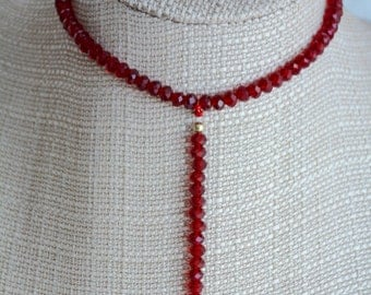 Choker necklace collar with pendant