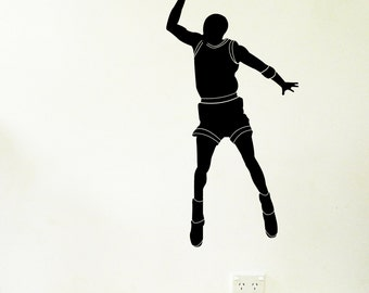 BASKETBALL PLAYER Wall Sticker, Removable Decal, Made In Australia