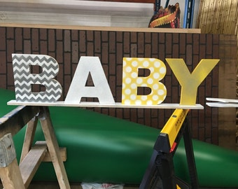 Custom letters // baby letters // baby shower // baby gift // wood letters // table sign