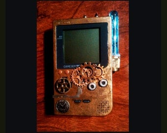 Game Boy Pocket Steampunk Custom Retro Gameboy custom