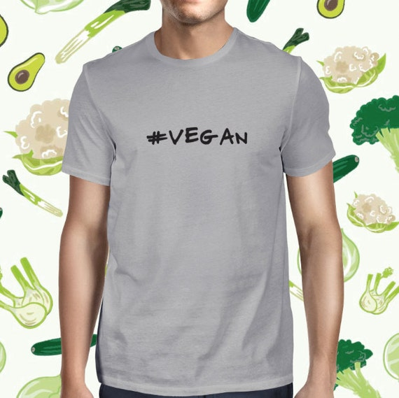 Vegan Tee - Male Veggie Shirt - Casual T-shirt - Vegan Tshirt - Mens Vegan Clothing - Healthy - Funny Tee - Vegetarian - Plant-based