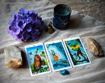 3 Card Tarot Reading Spread (Past, Present, Future)
