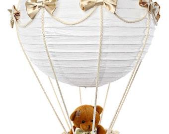 Hot Air Balloon Lamp   Paper Lantern Lamp   Lamp Shade for Baby Room   Hot Air Balloon for Nursery Room   Baby Lamp