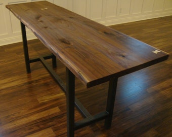 Live Edge Walnut Bar Table