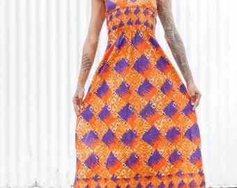 Afrobelle designs Batik maxi dress
