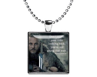 Vikings Ragnar Lothbrok Necklace Viking Fandom Jewelry Necklace Pendant Warrior Fangirl Fanboy