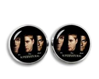 Supernatural Stud Earrings Supernatural Earrings Sam Winchester Dean Winchester Castiel