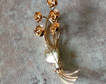 Delicate and Feminine Rose Bouquet Brooch