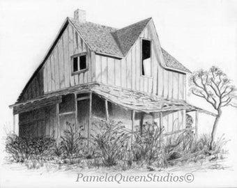 Wood's House Small Digital Print
