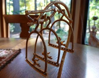 Vintage Earring Tree Gold Birds