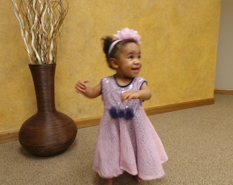 Elegant Pink-Blue Formal Dress