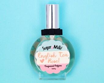 English Tea Rose Perfume / Perfume Oil / Body Mist / Floral Perfume / Flower Perfume / Handmade Perfume / Natural Perfume/ Perfume Atomizer