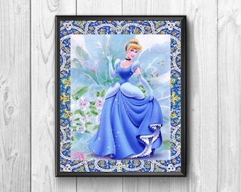 Cinderella, Cinderella posters, wall posters, children's story, three stepsisters, fairy, dancing