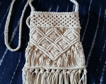 Contemporary Bohemian Style Macrame Bag