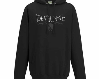 Death Note logo with Ryuk silhouette hoodie