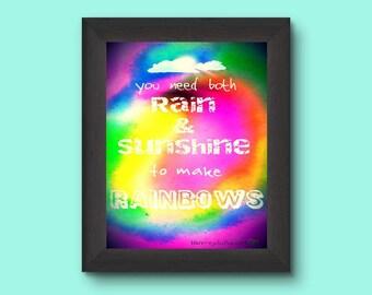 Printable Poster 8 x 10 RAIN & SUNSHINE
