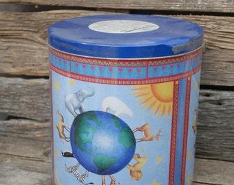 Noahs Arc Tin, Animal Tin, Popcorn tin, Houston Foods Co