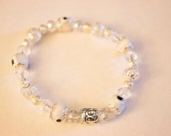 Evil Eye Crystal Gemstone Bracelete