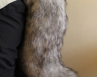 Grey  Canine Tail