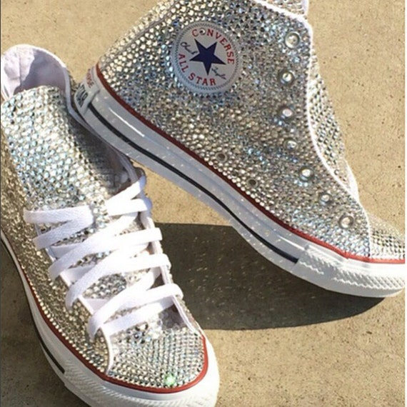 Swarovski Element High Top Converse