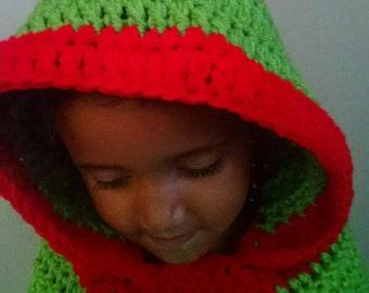 Hooded Cowl, Child's hooded cowl, crochet hooded cowl, crochet child's hat