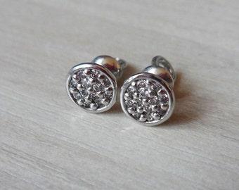Tiny 925 sterling silver 6mm circle screw back stud earrings popular stud earrings