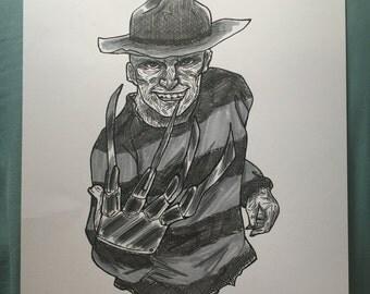 Freddy Krueger Ink Drawing