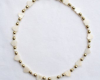 Necklace with Mother-of-pearl and Shell Beads