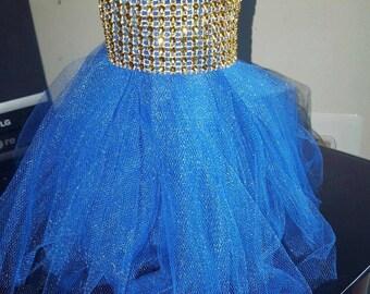 Royal Blue Tulle Skirt
