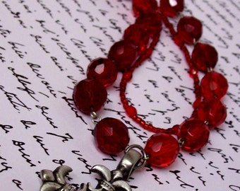 Elegant Faith Necklace in Ruby
