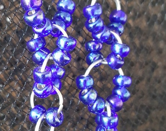 Chainmaille Glass Beads Earrings
