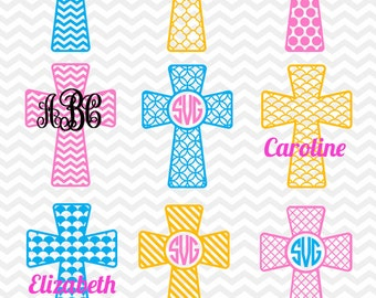 CHRISTIAN CROSS SVG files, Silhouette, Die Cut, Vinyl Cutter, Monogram, Screen Printing svg#003