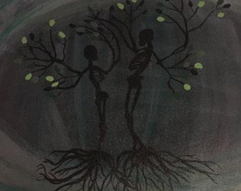 Skeleton Tree Painting
