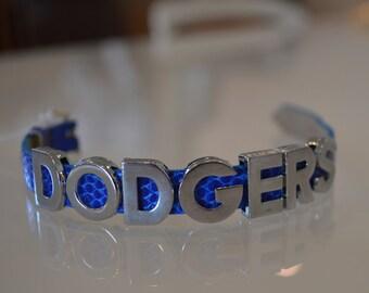 "Silver ""Dodgers"" Bracelet"
